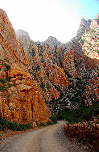 Driving-to-Prins-Albert-from-Oudtshoorn-over-Swartberg-pass